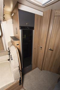 The 139-litre fridge in the Swift Escape 604