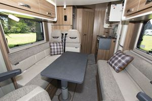 The lounge in the Swift Escape 604