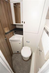 The washroom in the Swift Escape 604