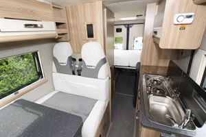 The interior of the Swift Select 174 campervan