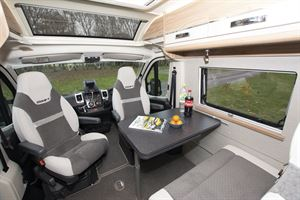 The cab in the Swift Select 84 motorhome