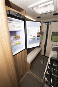 The fridge in the Swift Select 184 motorhome