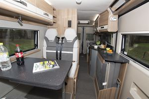 The interior of the Swift Select 184 motorhome