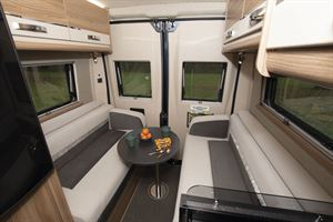 The rear lounge in the Swift Select motorhome