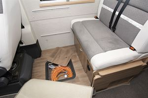 Underfloor storage in the Swift Select 184 motorhome