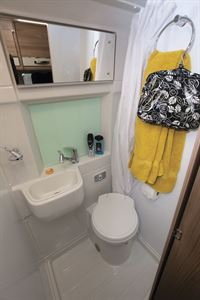 The washroom in the Swift Select 184 motorhome