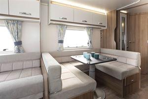 Seating in the Swift Siena Super FB caravan