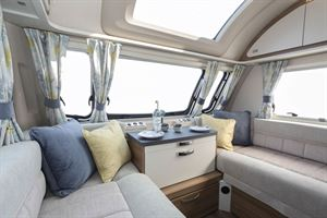 A spacious and light area in the Swift Siena Super FB caravan