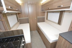 Beds in the Swift Champagne 675 motorhome