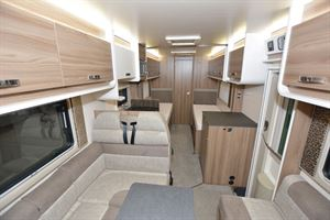 The view from front to rear in the Swift Champagne 675 motorhome