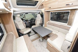 The lounge in the Swift Champagne 675 motorhome