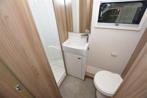 The washroom in the Swift Champagne 675 motorhome