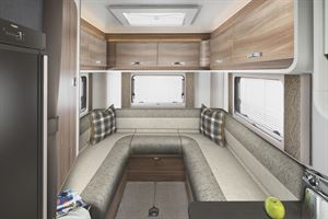 The rear lounge in the Swift Escape 674