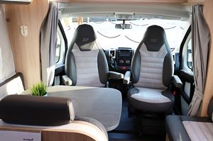 The interior of the Special Edition XV models feature leather Alcantara seats. This is the T68 motorhome © Warners Group Publications 2019