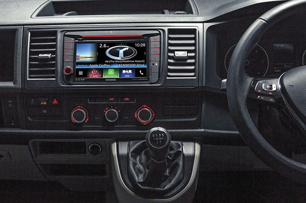 New Kenwood unit featuring CarPlay in a VW T6