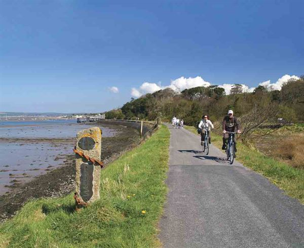Cycling along the Tarka Trail - picture courtesy of VisitBritain/VisitDevon/Neville Stannikk