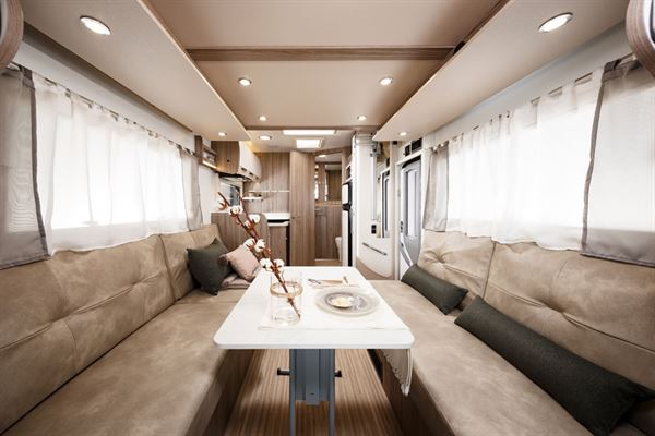 The front lounge in the Benimar Tessoro 487 motorhome