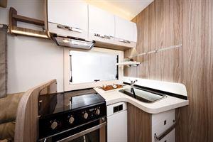 The kitchen in the Benimar Tessoro 487 motorhome