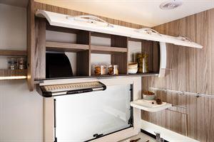 Overhead cupboard storage in the Benimar Tessoro 487 motorhome