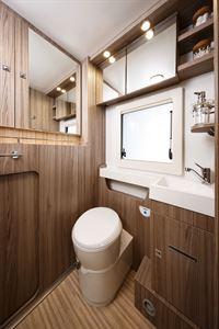 The toilet in the Benimar Tessoro 487 motorhome