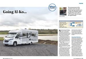 Top motorhome tests in the July issue of MMM
