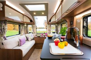 The Cadiz is a mid-length caravan but looks and feels spacious