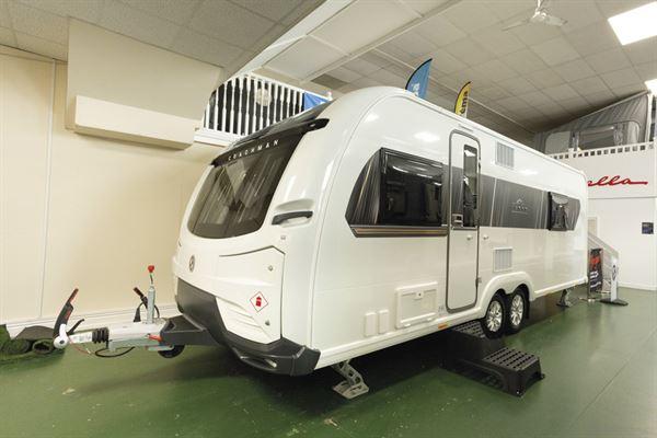 The exterior of the Coachman Lusso caravan