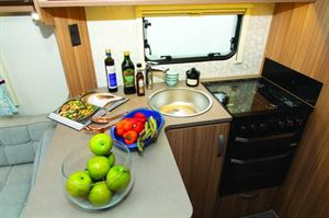Breakfast bar-style kitchen