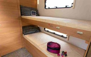 The bunks are 75cm wide