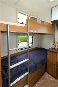 The fixed bunks are a good size