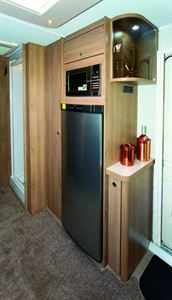 The fridge capacity is 155 litres