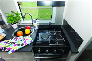 A good hob layout for using different sized pans