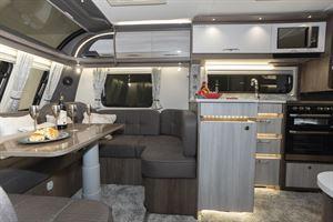 Inside the Coachman Lusso caravan