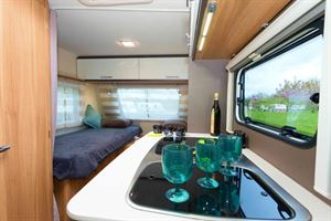 The little Caravelair Antares 450 looks and feels more spacious than its size suggests