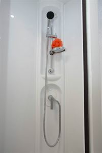 The luxury of a seprate shower in an end-kitchen two-berth!