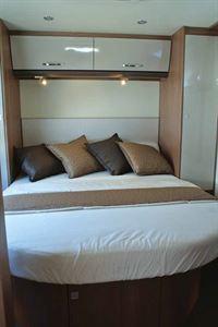 The rear island bed in the new Burstner City Car Harmony Line C 603 campervan