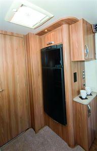 The Conqueror 650 has the luxury of a 190-litre fridge-freezer