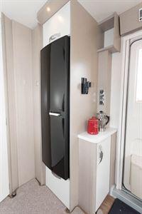 The tall, slim fridge