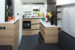 There's more space than you'd imagine in such a tiny caravan