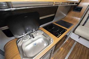 This conversion has an induction hob in the galley © Warners Group Publications, 2019