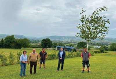 As the holiday home industry springs back into action, work is starting on a new park in Wales