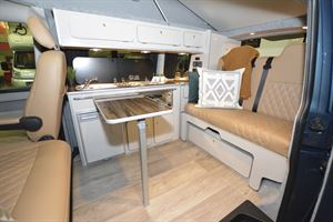 A view of the interior of the Tribe Campers East Edition campervan
