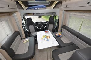 The lounge in the Auto-Trail Tribute F72