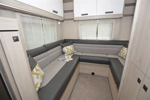 The rear lounge in the Auto-Trail Tribute F72