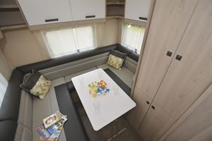 Another view of the rear lounge in the Auto-Trail Tribute F72