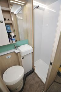 The washroom in the Auto-Trail Tribute F72