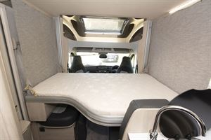 The fold down bed in the Auto-Trail Tribute F72 motorhome