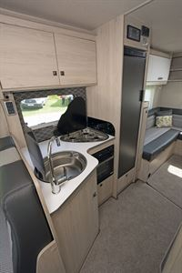 The kitchen in the Auto-Trail Tribute F72 motorhome