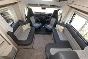 A view of the lounge area in the Auto-Trail Tribute F72 motorhome