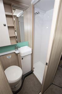 The washroom in the Auto-Trail Tribute F72 motorhome